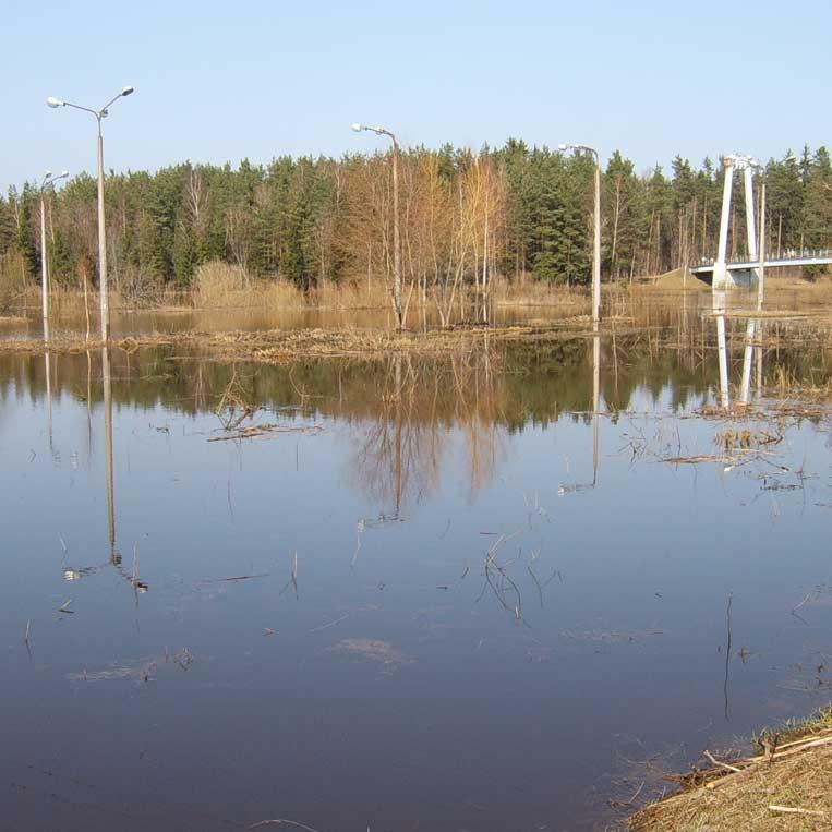 pavasara plūdi gaujā pie valmieras