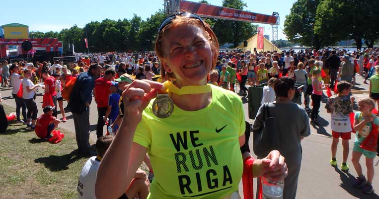 ilona tropa rīgas maratons 2018 šosejas skriešana