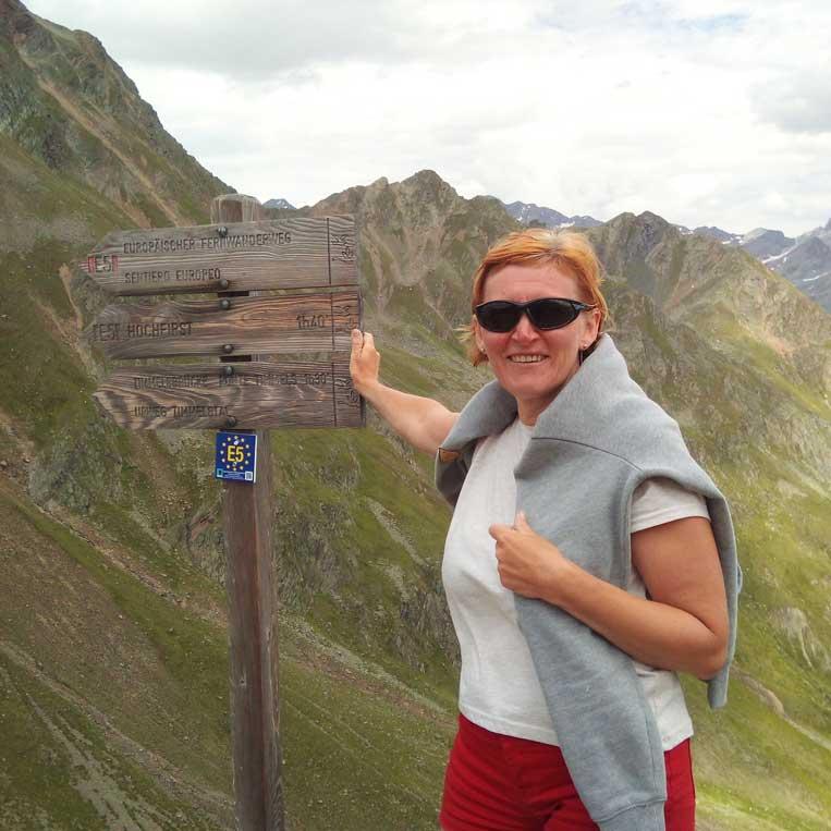 ilona tropa par mani timmelsjoch pareja itālijas-austrijas alpos otztal alps